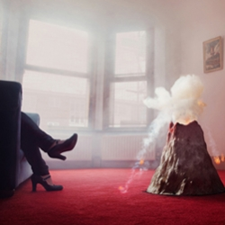 """Dark matter in your kitchen sink - """"Would you be more popular if you had a volcano in your front room?"""" asks young designer/artist/mad-scientist Nelly Ben-Hayoun."""