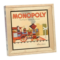 Nostalgia Monopoly with the original gameboard from one of the very first editions of the game and wooden box.