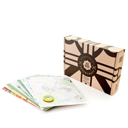 The  the D.Y.O. (Design Your Own) paper craft kit from Fairminds and TrendsActive containing different sheets of paper from all over the world.