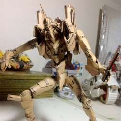 Pretty impressive Cardboard Neon Genesis Evangelion that actually transforms!