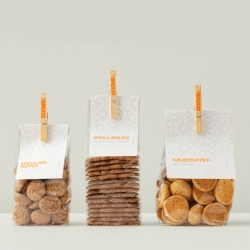 Iconic Design's visual identity and packaging for the bakery bBrood Amsterdam. Created in collaboration with Bureau Stoer.