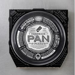 Crispin Porter + Bogusky's new packaging for Domino's new Handmade Pan Pizza.