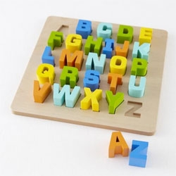 Letters Entertain You, a cute Wooden Letter Puzzle from the Land of Nod.