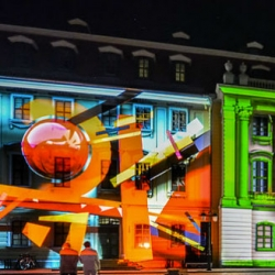 Under an Alias from nerdworking, site-specific projection mapping in Weimar.