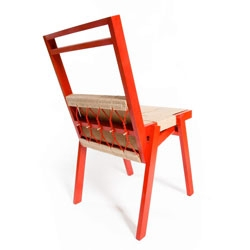 The beech and jute Stolek Chair by Michael Konstantin Wolke.