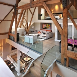 The St Pancras Penthouse Apartment in London designed by Thomas Griem of TG Studio.