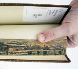 Secret Fore-Edge Paintings found in early 19th Century Books at the University of Iowa.