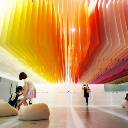 100 Colours, beautiful installation from Emmanuelle Moreaux in Tokyo as part of the Shinjuku Creators Festa 2013.