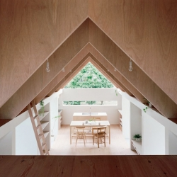 Koya No Sumika, a triangular extension from mA-style Architects.