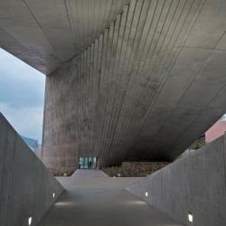 The concrete Centro Roberto Garza Sada de Arte Arquitectura y Diseño by Tadao Ando.