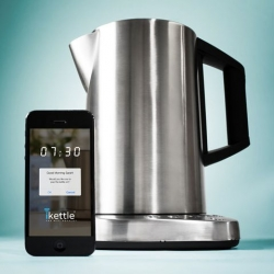 A tea lovers dream! A WiFi-enabled iKettle means you can use your phone to pop the kettle on so it will be ready and waiting for you, when you're parched for a cup of tea.