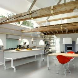 House G, a barn conversion by Maxwan Architects in Geldermalsen, The Netherlands.