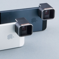An anamorphic lens adapter for the iPhone for extra wide angle shots.
