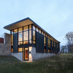 The Fieldstone House in Wisconsin by Bruns Architecture.