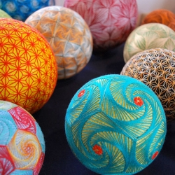 Flickr user nanaakua captures some 500 temari balls made by her grandmother.