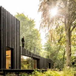 Black Wood House in Normandy by Marchi Architects.