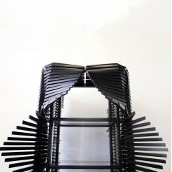 Sebastian Errazuriz's Samurai Cabinet made from 400 individually movable keels.
