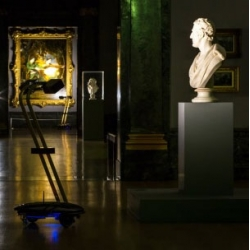 Discover the Tate after dark with the help of robots. Live online from tomorrow night, you will be able to control robots roaming around the galleries of the Tate Britain from the comfort of your sofa!