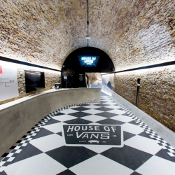 Vans turn London's Old Vic Tunnels into an indoor skatepark.