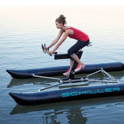 The Schiller X1 letting you cycle on the water.