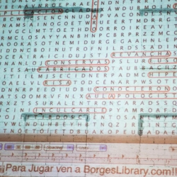 A giant word search that contains every word written by Jorge Luis Borges by Daniel Temkin and Rony Maltz.