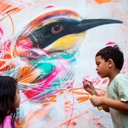 Stunning bird murals by L7m.