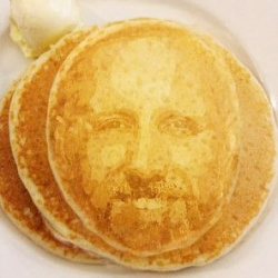 Using facial recognition technology to print your face on a pancake and more twists on pancake day.