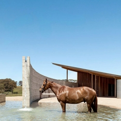 Beautiful equestrian center near Melbourne by London studio Seth Stein Architects and local firm Watson Architecture + Design.