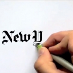 Seb Lester hand draws iconic logos with stunning calligraphy.
