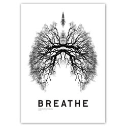 Studio 8 Design's gorgeous BREATHE poster with trees as lungs...