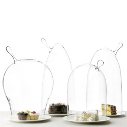By Fabrica ~ gorgeous, organic looking glass domes to showcase everything from cupcakes to..... well, get creative!