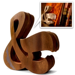 Who doesn't need a cast iron ampersand as an interior design element? from House Industries... also comes in aluminum