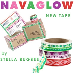 Navaglow ~ awesome new packing tape from Stella Bugbee ~ it feels a little scandinavian, pixelated, and southwestern influenced all at once, and makes all packages instantly more fun!