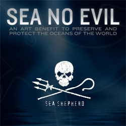 Sea Shepherd Art Show - an art benefit to preserve and protect the oceans of the world - pity i missed this back in June, but love the logo