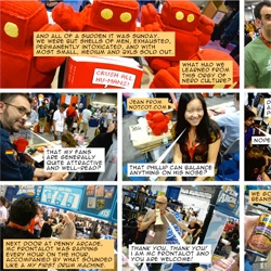 Chris Yates' Reprographics has some awesome comics on our adventures at SDCC - First NOTCOT cameo in a comic strip?