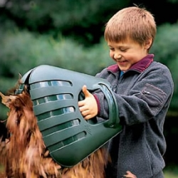 Bear claw leaf scoops. Fun product for kids but also a super efficient way to clean up fall leaves, grass clippings and other lawn debris. Just slip the super-sized plastic bear claw scoops over your hands and start having fun.