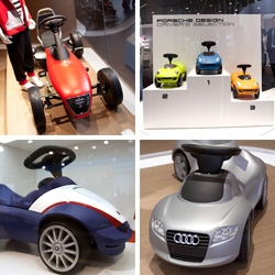 Cars for Kids found at the Frankfurt Auto Show ~ toddler rides from Porsche, Audi, BMW, and Hyundai.