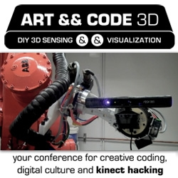 Art && Code 3D conference is coming up next week! All about DIY 3D Sensing and Visualizations ~ learn to hack the Kinect, play with processing, and even partake in the mini makerfaire.
