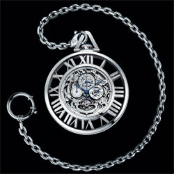 Cartier is to release the Cartier Skeleton Pocket Watch this year. The limited edition piece includes a tourbillon, perpetual calendar, and monopusher chronograph.