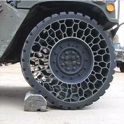 A test of the Non-Pneumatic Tire by Resilient Industries.