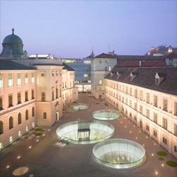 The Joanneum Museum extension in Graz, Austria by Nieto Sobejano Arquitectos and eep architekt.