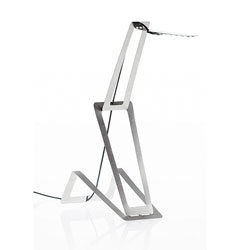 Flaca, a slim stainless steel lamp by Masiosare Studio.