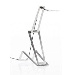 Flaca, a slim stainless steel lamp by Masiosare Studio.