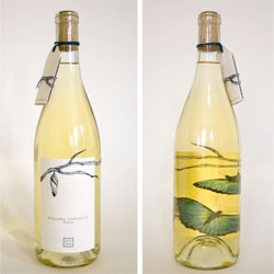 Melissa Deckert's chrysalis inspired packaging wine label design.
