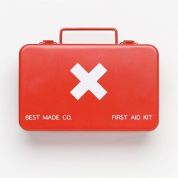 Super cute steel first aid kit box from Best Made.