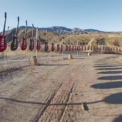 Music video for OK Go's Needing/Getting in collaboration with Chevrolet. OK Go set up over 1000 instruments over two miles of desert outside Los Angeles.