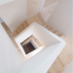 Gorgeous staircase in the stunning House in Aoto by High Land Design.