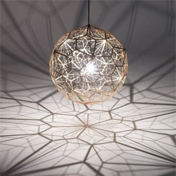 Tom Dixon launches the new Etch Web pendant lamp.