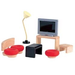 Plan Toys ~ they have everything from these adorably modern doll house sets to wooden foosball for your 3 year old...