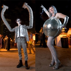 Happy Halloween ~ for some inspiring costumes and a peek at what a costume party at LACMA with access to the Dali exhibit looks like... check out Joshua Targownik's coverage.